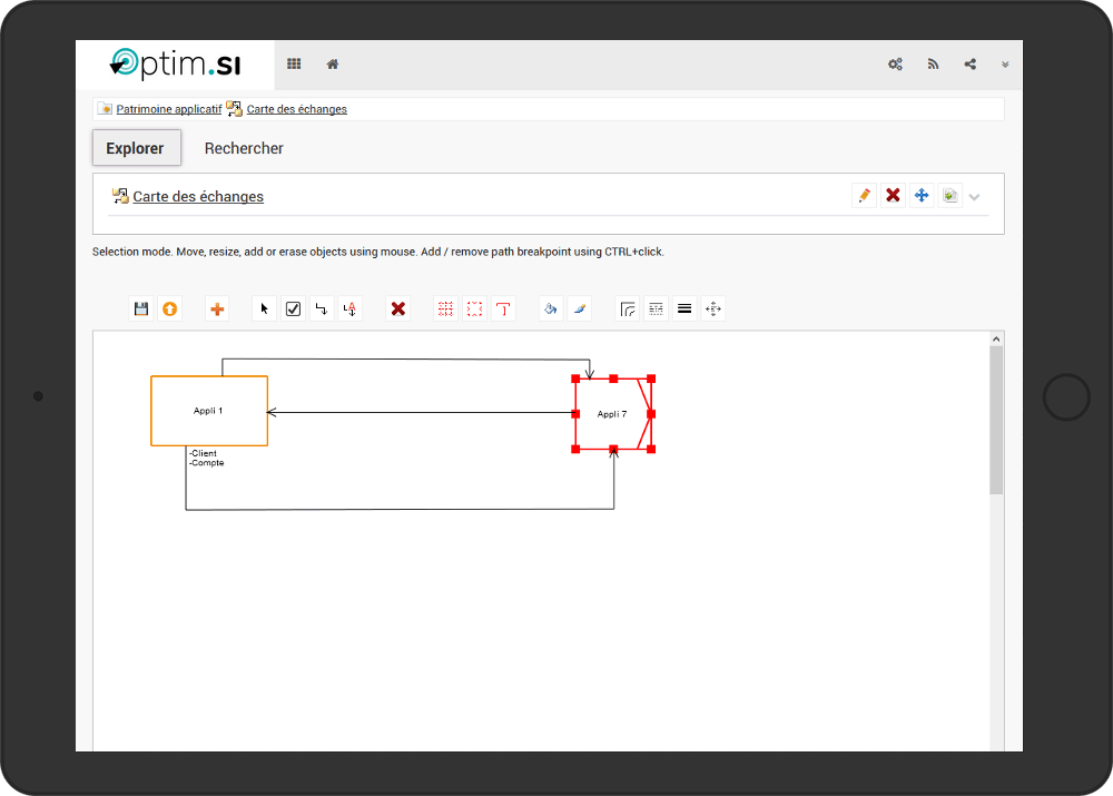 Écran logiciel Optim-SI Urba